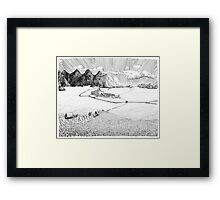 City by the Mountains Framed Print