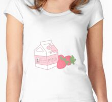 Strawberry Milk Women's Fitted Scoop T-Shirt