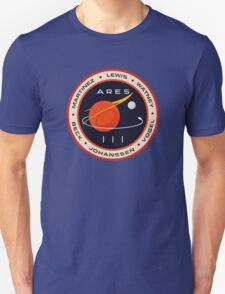 """""""Martian"""" Ares III Patch Unisex T-Shirt"""