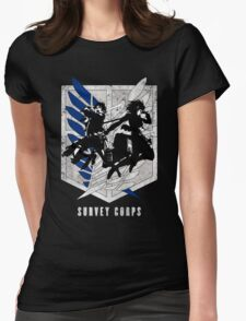 Attack on titan - Eren - Mikasa Womens Fitted T-Shirt