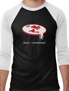 Flat Earth (Teach the Controversy) Men's Baseball ¾ T-Shirt