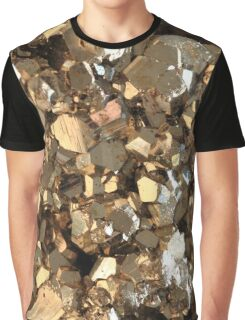 Golden Pyrite Mineral Graphic T-Shirt