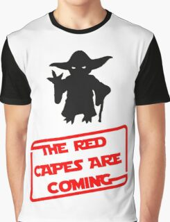 Dawn of Justice red capes are coming Yoda Star Wars Graphic T-Shirt