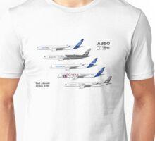 Airbus A350 Test Aircraft Fleet Illustration Unisex T-Shirt