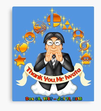 Iwata Tribute Canvas Print
