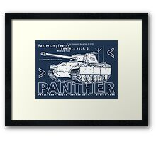 Panther Tank Framed Print