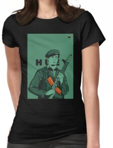 Black Panther Huey Newton Womens Fitted T-Shirt