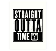 Back to the future - Straight outta time Art Print
