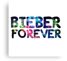 Bieber forever Canvas Print