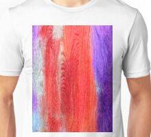 Colorful Wood Grain Background Unisex T-Shirt