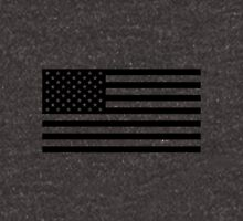 Black and White USA America Flag Unisex T-Shirt