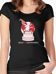 Young Earth (Teach the Controversy) Women's Fitted Scoop T-Shirt