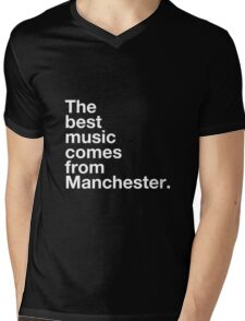 Manchester Music Mens V-Neck T-Shirt