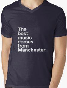 Manchester Music Mens V-Neck T-Shirt