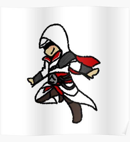 Assassins Creed Chibi Ezio Auditore da Firenze Poster