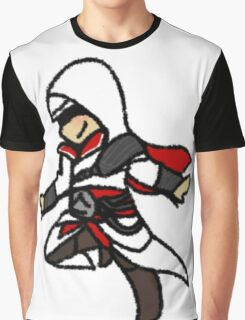 Assassins Creed Chibi Ezio Auditore da Firenze Graphic T-Shirt