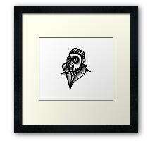 Fancy Gas Mask  Framed Print