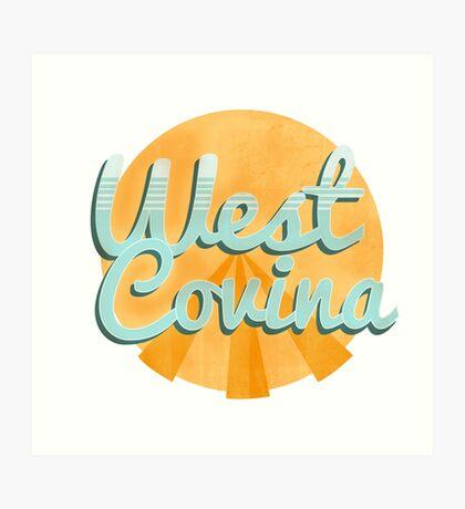 west covina cali Art Print