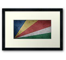 Seychelles Flag Grunge Framed Print