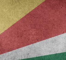 Seychelles Flag Grunge Sticker