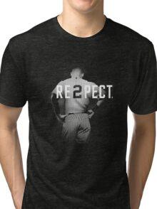 Respect Derek Jeter Tri-blend T-Shirt