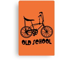 Old School Bike Fixie Bike Canvas Print
