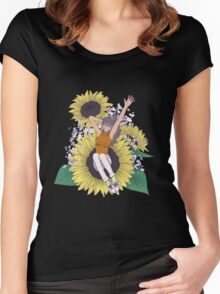 Sunflower Girl Women's Fitted Scoop T-Shirt