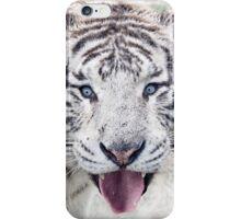 White Tiger Funny Portrait iPhone Case/Skin