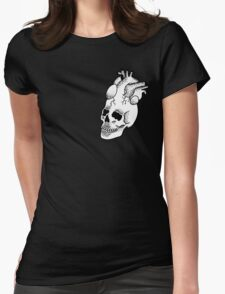 Dotwork SkullHeart Womens Fitted T-Shirt