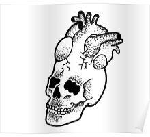 Dotwork SkullHeart Poster