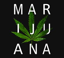 Marijuana - Minimalist Leaf [White Text] Unisex T-Shirt
