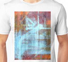 Colorful Wood Grain Modern Abstract Art Unisex T-Shirt