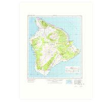 USGS TOPO Map Hawaii HI Hawaii 349916 1975 250000 Art Print