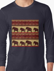 African print with elephants Long Sleeve T-Shirt