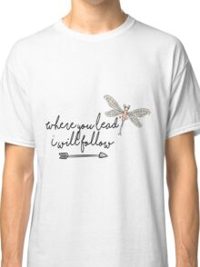 Gilmore Girls- Where you lead I will follow Classic T-Shirt