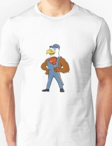 Bald Eagle Plumber Plunger Isolated Cartoon Unisex T-Shirt