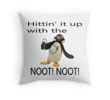 Pingu - Hitin' it up with the NOOT! NOOT! Throw Pillow