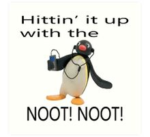 Pingu - Hitin' it up with the NOOT! NOOT! Art Print