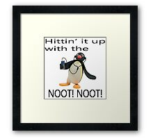 Pingu - Hitin' it up with the NOOT! NOOT! Framed Print