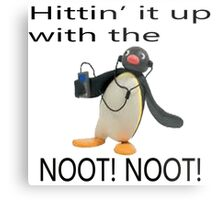 Pingu - Hitin' it up with the NOOT! NOOT! Metal Print
