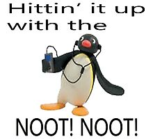 Pingu - Hitin' it up with the NOOT! NOOT! Photographic Print