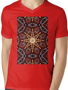 Stained Glass Abstract Mens V-Neck T-Shirt