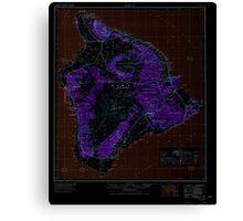 USGS TOPO Map Hawaii HI Hawaii 349916 1975 250000 Inverted Canvas Print
