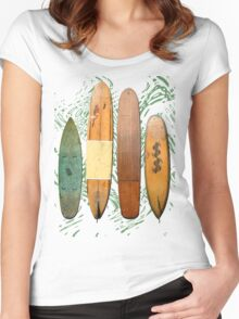 Old Sufboards Tee from down South in Western Australia Women's Fitted Scoop T-Shirt