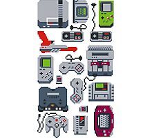 Game Controller Pixels Photographic Print