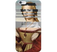 """Rafael's """"Portrait of Young Woman with Unicorn"""" & Elizabeth Taylor iPhone Case/Skin"""