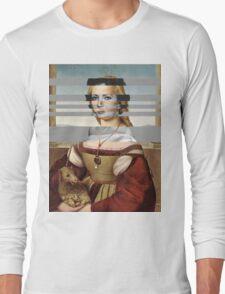 "Rafael's ""Portrait of Young Woman with Unicorn"" & Elizabeth Taylor Long Sleeve T-Shirt"
