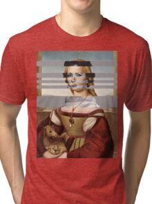 "Rafael's ""Portrait of Young Woman with Unicorn"" & Elizabeth Taylor Tri-blend T-Shirt"