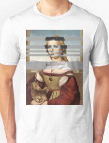"Rafael's ""Portrait of Young Woman with Unicorn"" & Elizabeth Taylor Unisex T-Shirt"