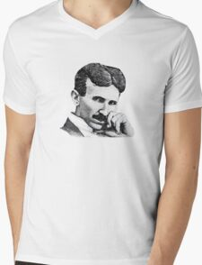 Nikola Tesla Mens V-Neck T-Shirt